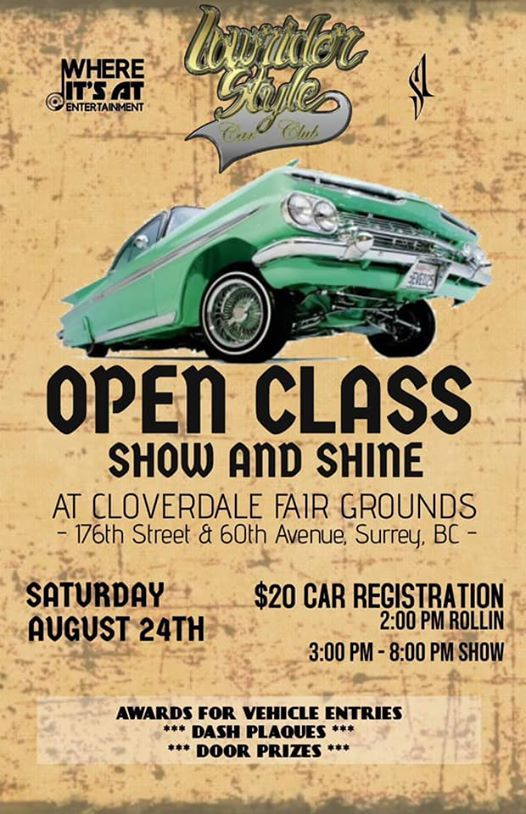 Lowrider style open class car show - Cloverdale BIA